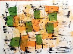 Explosion cubique (vert-orange)