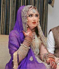Hijabi Wedding, Muslim Wedding Dresses, African Wedding Dress, Muslim Brides, Muslim Couples, Wedding Bride, Wedding Ideas, Pakistani Bridal Makeup, Pakistani Bridal Dresses