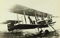 "July 17, 1914: First flight of the Vickers F.B.5 (Fighting Biplane 5) (known as the ""Gunbus""), British two-seat pusher WWI military biplane, first aircraft purpose-built for air-to-air combat to see service, making it the world's first operational fighter aircraft"