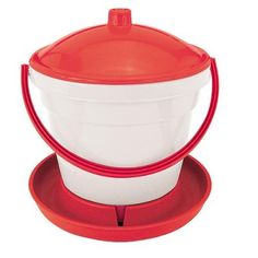Strend Pro Napájačka RAPID CLEAN CHICKENS, 12 lit. Clean Chicken, Easy Fill, Water Bucket, Plastic Buckets, Poultry, Pet Supplies, Red And White, Small Animals, Cleaning