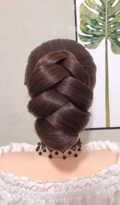 Easy Hairstyles For Long Hair, Up Hairstyles, Braided Hairstyles, Wedding Hairstyles, Long Hair Buns, Ponytail Hairstyles Tutorial, Gorgeous Hairstyles, Indian Hairstyles, Headband Hairstyles