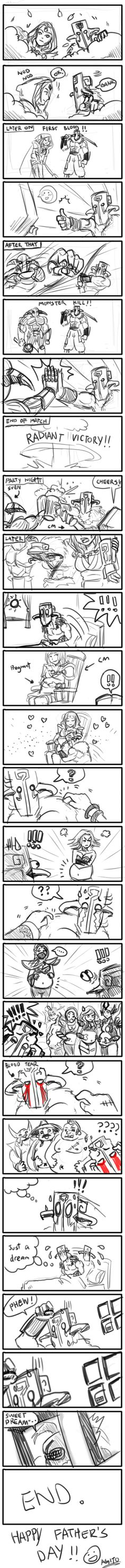 Happy Father's Day by on DeviantArt Dota 2 Meme, Fairy Tail Amv, Happy Fathers Day, Daddy, Fan Art, Deviantart, Bane, Memes, Funny