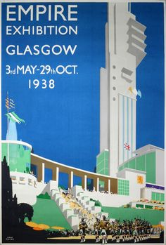 Original vintage poster: Empire Exhibition 1938 Glasgow for sale at posterteam.com by Taylor, Fred (1875-1963)