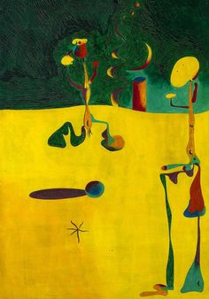 Joan Miró ~ Nocturne ~ 1935 ~ Olieverf op koper ~ 42 cm x cm - The Cleveland Museum of Art, Cleveland Joan Miro Paintings, Chagall Paintings, Spanish Painters, Spanish Artists, Nocturne, Cleveland Museum Of Art, Art Moderne, Art For Art Sake, Wassily Kandinsky