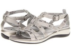 THEY BETTER BE COMFY FOR 100.00 SoftWalk Torino Soft Pewter Metallic Soft Tumbled Leather - Zappos.com Free Shipping BOTH Ways