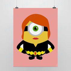 Light Art Anime Games Minions Super Hero  Black Widow Pink DIY Cute Funny Pop Cartoon Pictures Movie Poster Print Kids Wall Canvas Paintings