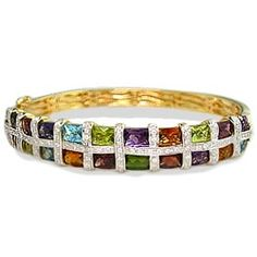 Yellow Gold Bellarri Mosaic Bangle with Gems and Diamonds - Bellarri Jewelry - Designer Collections - Collections...okay I'm wishing really big!