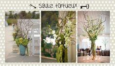 Saule tortueux / curly  willow...une autre jolie tendance mariage pour 2013