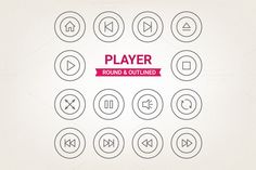 Circle player icons by miumiu on Creative Market