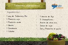 Preparate esta #receta ecológica de tallarines vegetarianos