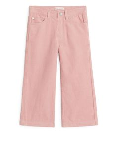 3bd11147 Cropped Cord Trousers - Pink - Trousers