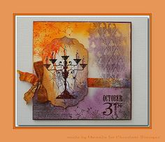 'Mir'acle Art Inspirations: Spooky Halloween with Chocolate Baroque stamps.........