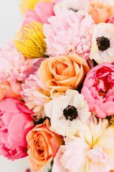Roses & peonies.