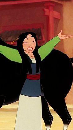 Mulan é o meu filme preferido da Disney, pois mostra que as mulheres podem fazer tudo aquilo que os homens fazem. Além disso, a Mulan consegue ficar em meio de tantos homens e ainda sim se impor e ser respeitada e quebra com o esteriótipo de que as mocinhas precisam ser salvas pelos mocinhos. Lembra-me minha infância.
