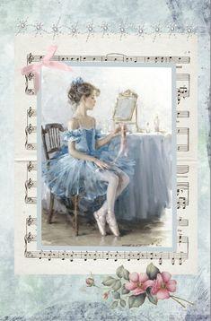ballerina with blue dress