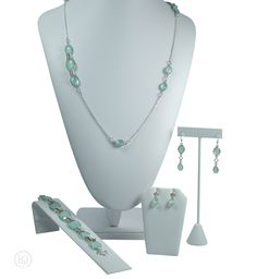 Gemma Necklace and Double Earring Set - includes: The Necklace, The Bracelet, The Dangle Earrings, The Tear Drop Earrings, and an optional Free Greeting Card Double Earrings, Teardrop Earrings, Jewelry Sets, Earring Set, Greeting Card, Pearl Necklace, Dangles, Pearls, Bracelets