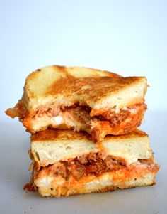 Yes, that's right. No more waiting one hour+ for a lasagna. Here. Ready for you. Right now. Try it! It's Lasagna Grilled Cheese... lasagna in grilled cheese form.