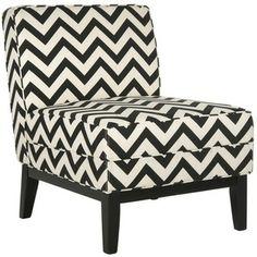 Armond Black/ White Chair