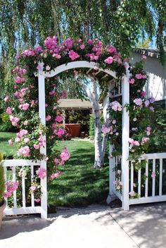 The wooden pergola is a good solution to add beauty to your garden. If you are not ready to spend thousands of dollars for building a cozy pergola then you may devise new strategies of trying out something different so that you can re Pergola Garden, Garden Gates, Garden Entrance, Garden Arches, Diy Greenhouse, Balcony Garden, Indoor Garden, Garden Cottage, Rose Cottage