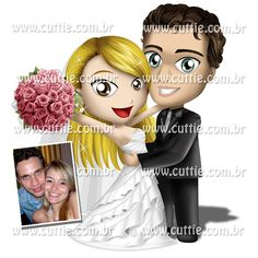 Caricatura para casamento - Noivos Chris e Eric - noivinhos cuttie 2