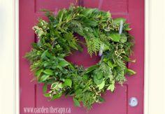Holiday Wreath... making a fresh wreath