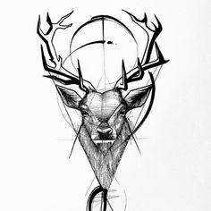 Man And Women Tattoo : Stag - Frank Carrilho, Stag Tattoo Design, Sketch Tattoo Design, Deer Tattoo, Tattoo Sketches, Tattoo Designs Men, Line Art Tattoos, Body Art Tattoos, Sleeve Tattoos, Ink Tattoos