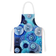 KESS InHouse Heidi Jennings 'Blue Lagoon' Aqua Navy Artistic Apron, 31 by 35.75', Multicolor * Quickly view this special  product, click the image : Small Appliances