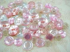 Cotton Candy Vintage Plastic Sewing Buttons