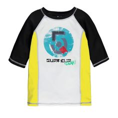 Rashguard Style Elbow Sleeve T-Shirt Multi Black / T-shirt à manches aux coudes de type « rashguard » Souris Mini