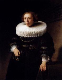"Rembrandt: ""Portrait Of A Woman"", 1632. (Private Collection)"