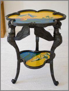 Art nouveau - guéridon -Table Libellule