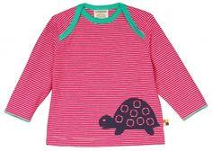 loud + proud Shirt - Schildkröte Ringel pink