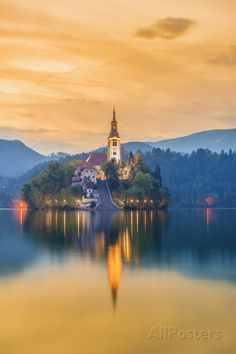 TThe ethereal Bled Lake, came into existence when the Bohinj Glacier shifted. It is long and up to wide This shining lake in Slovenia features a tiny quaint island, which is surrounded by breathtaking landscape. Beautiful Castles, Beautiful World, Beautiful Places, Julian Alps, Lake Bled, Central Europe, Travel Images, Places To Go, Scenery