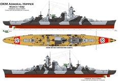 Admiral Hipper 1942   Warship profiles   Pinterest   Search