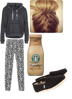 """Going to Starbucks"" by mrstomlinson12 ❤ liked on Polyvore"