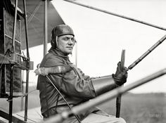 """College Park, Maryland, 1912. """"Aviation, Army. College Park aviation field, 2nd season. Capt. F.B. Hennessy, Curtiss plane."""""""