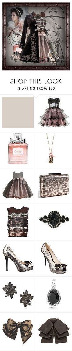"""Velvet Voices"" by halebugg ❤ liked on Polyvore featuring Christian Dior, Ruby Prom, Moon Collection, Bonnie Jean, Jean-Paul Gaultier, Tarina Tarantino, GUESS, BCBGMAXAZRIA, Pandora and Bena"