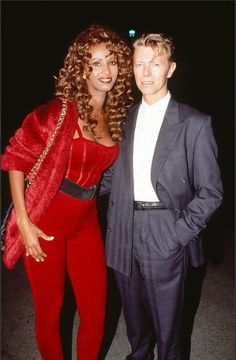 ~~~Bowie and his beautiful wife Iman~~~
