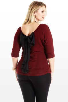 Slub You To Bits Bow Back Knit Top.. I find this bow in back very interesting..