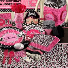 brown pink cheetah print birthday party ideas for nini s bday
