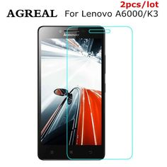 2PCS/lot For Lenovo A6000 6010 K3 A6000 PlusTempered Glass Screen Protector 0.26MM 9H 2.5D Safety Protective Film case Cover