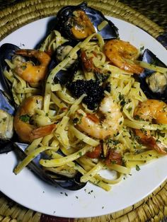 Linguini aux moules et crevettes