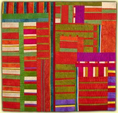 Ellin Larimer: Fiber Artist - Pajama Party Series; Pajama Party I