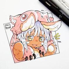 #inktober2017 28: narehate.  Nanachi y Mitty del anime: Made in abyss.  Son tan lindas, tanto humanas como narehate.  Me enamoré del estilo de este artista. Para las orejas de nanachi busqué una referencia en las ilustraciones del manga para que quedarán caídas por el peso de Mitty X3  #madeinabyss #nanachi #mitty #narehate #kawaii #cute #chibi #copicmarker #copicsketch #unipin #in #inktober
