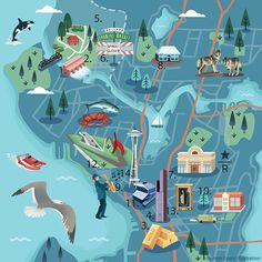 Jasmijn Evans - Map of Seattle
