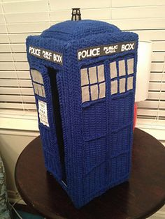 Free Crochet Pattern Tardis Hat : Crochet Tardis Box have 2 make this... The Big String ...