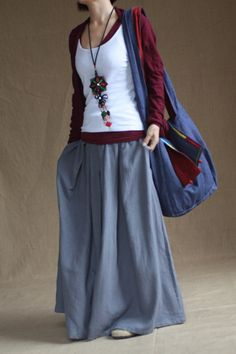 Hey, I found this really awesome Etsy listing at https://www.etsy.com/listing/116997666/gray-skirt-fashon-skirts-long-skirts