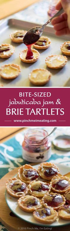 Bite-sized jam and brie tartlets combine melty cheese and your favorite jam for…