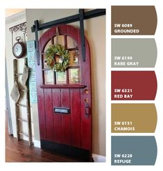 Paint colors from ColorSnap by Sherwin-Williams. Lightened versions for the new house Exterior Paint Schemes, Exterior Paint Colors For House, Interior Paint Colors, Paint Colors For Home, Exterior Colors, Cottage Paint Colors, Country Paint Colors, French Country Colors, Country Style