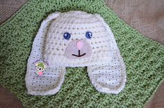 Crochet Rabbit Beanie Hat - Free Pattern